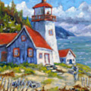 Traps And Lighthouse Art Print