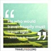 Travel Happy Art Print