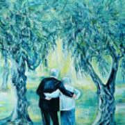Travel Notebook.olive Groves Art Print