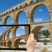 Travel To Pont Du Gard  Art Print