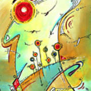 Traveling Band Original Painting Madart Art Print by Megan Duncanson