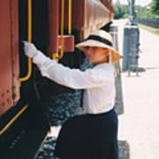 Traveling By Train Art Print