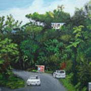 Traveling In Adjuntas Mountains Art Print