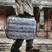 Traveling Man Art Print