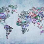 Traveler World Map Art Print