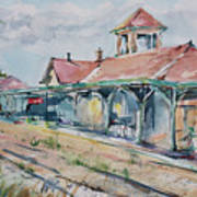 Traverse City Train Depot Art Print