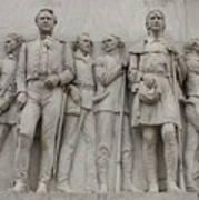 Travis And Crockett On Alamo Monument Art Print