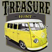 Treasure Hunt Bus Art Print