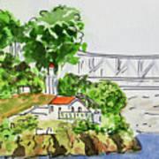 Treasure Island - California Sketchbook Project  Art Print