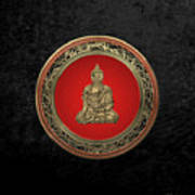 Treasure Trove - Gold Buddha On Black Velvet Art Print