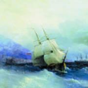 Trebizond From The Sea 1875 61h94 Ivan Konstantinovich Aivazovsky Art Print