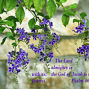 Tree Branches With Purple Flowers Ps 46 V 7 Greeting Card For Sale