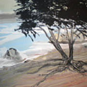 Tree By The Sea By Betty Art Print