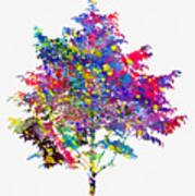 Tree-colorful Art Print