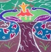 Tree Design Art Print by Joni Mazumder