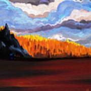 Tree Fall Camping Art Print