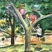 Tree Fun Study Art Print