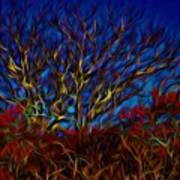 Tree Glow In The Dark Art Print