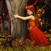 Tree Hug Art Print