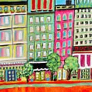 Tree Line Avenue Art Print
