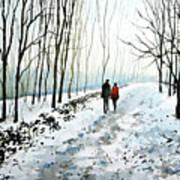 Tree Lined Stroll Art Print