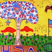 Tree Of Freedom And Glory Art Print