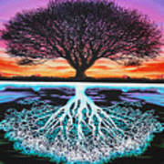 Tree Of Life And Negative Art Print by Brian Schuster