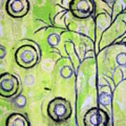 Tree Of Life Spring Abstract Tree Painting  Art Print
