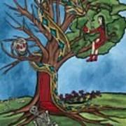 Tree Of Life Temptation And Death Art Print