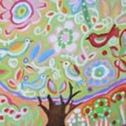 Tree Of Life With Dragonfly Art Print