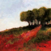 Trees On The Hill Art Print