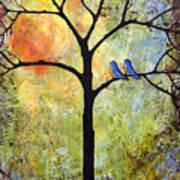 Tree Painting Art - Sunshine Art Print by Blenda Studio