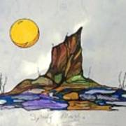 Tree Stump At Spooky Marsh Art Print