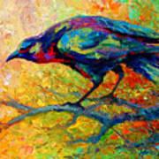 Tree Talk - Crow Art Print by Marion Rose