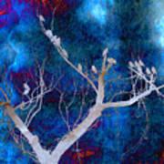 Tree Top Flock Art Print
