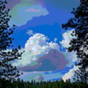 Trees And A Cloud For Crying Out Loud Art Print