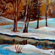 Trees At The Rivers Edge Art Print