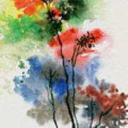 Trees In Colors Art Print