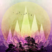 Trees Under Magic Mountains IIi Art Print