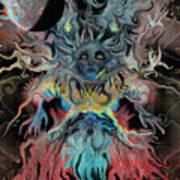Treewoman Awakens Art Print