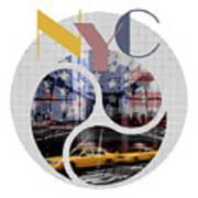 Trendy Design New York City Geometric Mix No 2 Art Print