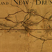 Trenton New Brunswick Turnpike 1800 Art Print