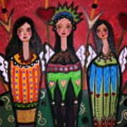 Tres Angelicas Art Print