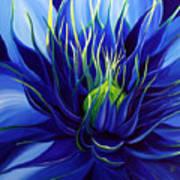 Tres Azul Art Print