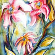 Tres Fleurs In Heat Art Print