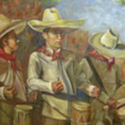 Tres Tambores Art Print