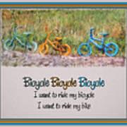 Tri Bike Bicycle Races Art Print