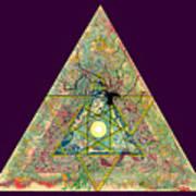 Triangle Triptych 3 Art Print