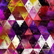 Triangles Impressionism Art Print