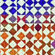 Triangles Impressionism Painting Art Print